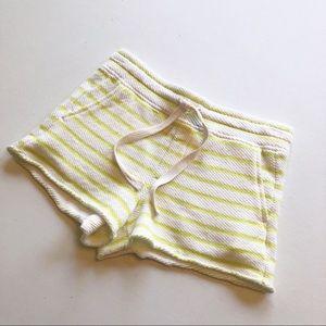 Lou & Grey Striped Terry Sweat Shorts